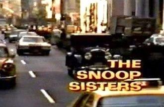 The Snoop Sisters - Image: The Snoop Sisters Title Card