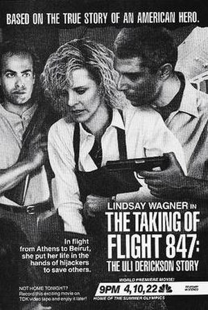 The Taking of Flight 847: The Uli Derickson Story - Print ad showing the original broadcast title