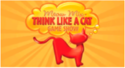 "A logo for the American game show ""Think Like a Cat"""