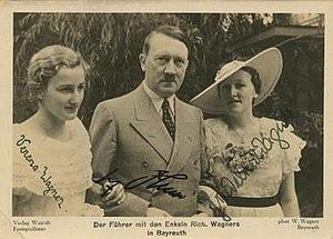 Verena Wagner Lafferentz - Adolf Hitler with Verena and Friedelind Wagner in 1938