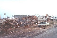 Destroyed houses in Windsor Locks.  Image by Windsor Locks Fire Department.