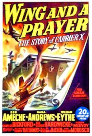 Wing and a Prayer - 1944 theatrical poster