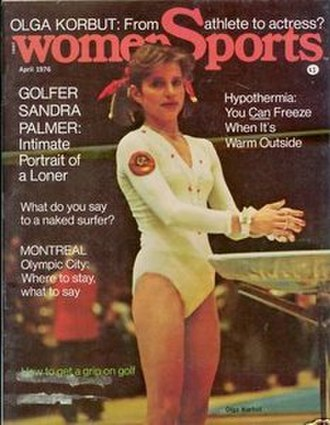 WomenSports - April 1976 cover of womenSports with Olga Korbut
