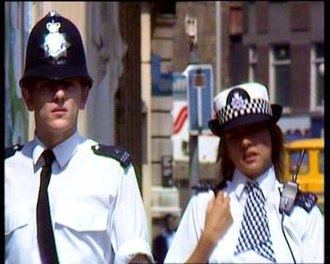 Woodentop (The Bill) - Jim Carver's first foot patrol, alongside June Ackland.