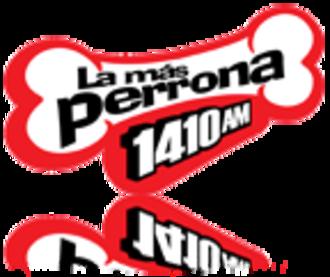 XEBS-AM - Logo used as La Más Perrona until 2017