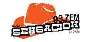 "XHTEY-FM - Logo as ""Sensación"" in the early 2010s"