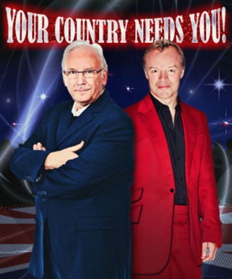 United Kingdom in the Eurovision Song Contest 2010 - Pete Waterman and Graham Norton in a promotional image for Your Country Needs You! 2010