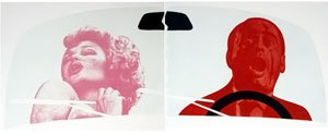 Vito Acconci - Crash, photointaglio, aquatint, relief and shaped embossing by Acconci, 1985
