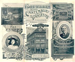 Canterbury Music Hall - 1893 programme cover