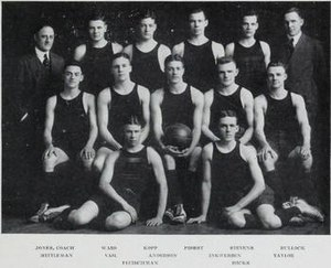 1917–18 Illinois Fighting Illini men's basketball team - Image: 1917 18 Fighting Illini men's basketball team