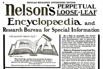 Nelson's Encyclopaedia - 1910 ad