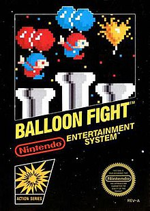 Image result for balloon fight nes box art