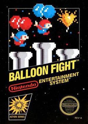Balloon Fight - NES cover art