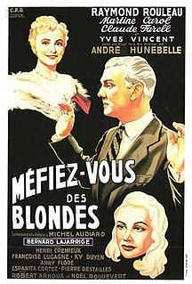 <i>Beware of Blondes</i> (1950 film) 1950 film by André Hunebelle
