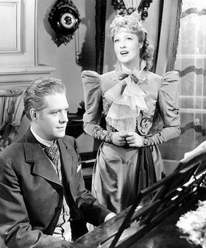 "Bitter Sweet - Nelson Eddy and Jeanette MacDonald in the 1940 film version, described by Coward as ""dreadful"""