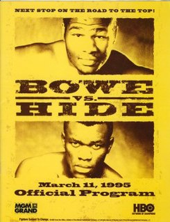 Herbie Hide vs. Riddick Bowe Boxing competition