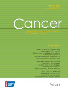 peer-reviewed scientific journal published by John Wiley & Sons for the American Cancer Society