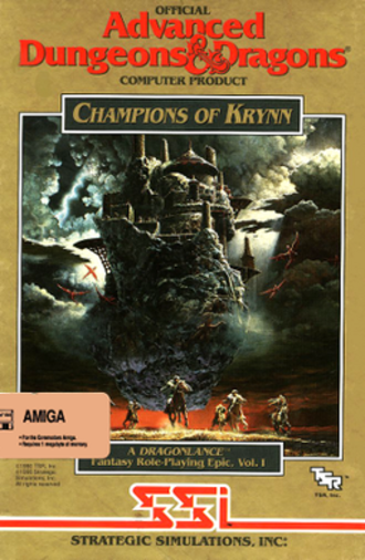 Champions of Krynn - North American cover art