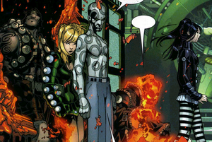 Children of the Vault - The Children of the Vault, from left to right: Perro, Aguja, Sangre, Fuego, and Serafina. Art by Chris Bachalo