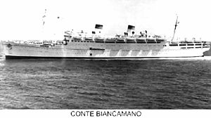 SS Conte Biancamano - Image: Conte Biancamano reconstructed