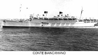 SS Conte Biancamano - Image: Conte Biancamano reconstructed