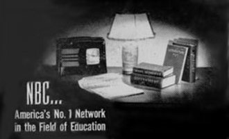 NBC University Theatre - Portion of 1945 NBC advertisement promoting The NBC University of the Air.