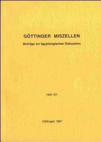 Göttinger Miszellen - Cover of the journal Göttinger Miszellen (GM)