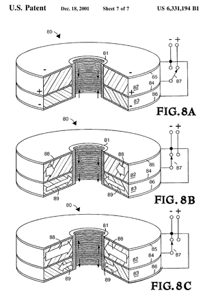 Dielectric wall accelerator - Patent sketch for the DWA
