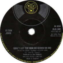 Don't Let the Sun Go Down on Me by Elton John UK vinyl Side-A.png
