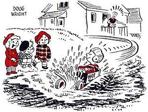 Doug Wright (cartoonist) - Image: Doug Wright Nipper 1953 10 17 last panel