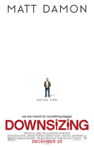 Downsizing (film) - Theatrical release poster