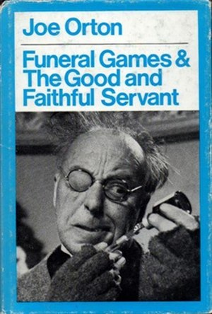 Funeral Games (play) - Cover of First edition, Methuen 1970