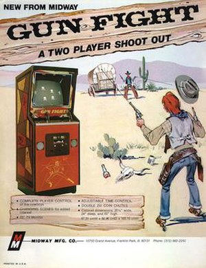 Gun Fight - Image: Gun fight arcade flyer