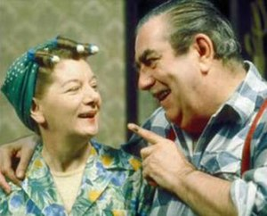 Hilda Ogden - Hilda and her husband Stan were voted Britain's top romantic TV couple in 2002.
