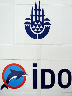 İDO - Old İDO logo at the bottom and on the top the logo of the Istanbul Metropolitan Municipality