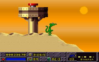 Jazz Jackrabbit (1994 video game) - Jazz in his lizard form