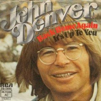 Back Home Again (song) - Image: John Denver Back Home Again