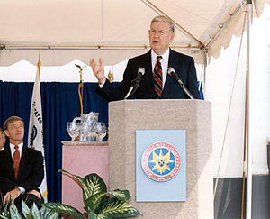 John Murtha - Murtha dedicates the National Drug Intelligence Center in Johnstown in 1993.