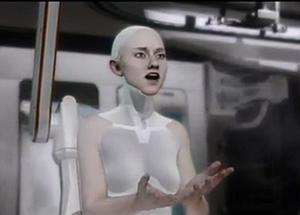 "Computer facial animation - Screenshot from ""Kara"" animated short by Quantic Dream"