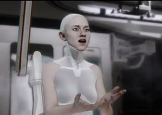 "Computer facial animation - Screenshot from ""Kara"" animated short by Quantic Dream"