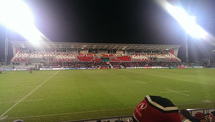 Ravenhill Stadium is the home of Ulster Rugby Kingspan Stadium, Belfast.jpg