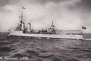Leone-class destroyer - The lead ship of the class, Leone