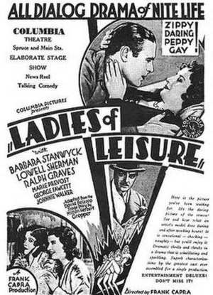 Ladies of Leisure - original newspaper advertisement