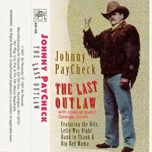 "Johnny Paycheck discography - Paycheck as depicted on the cover of his rare 1991 album ""The Last Outlaw."""