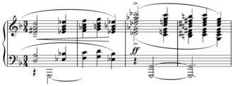 Parallel harmony - Image: Le Tombeau de Couperin triadic planing