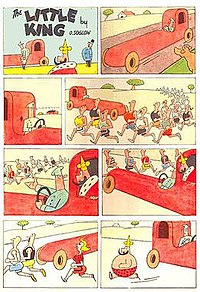 An eight-panel installment of Otto Soglow's long-lived comic strip The Little King