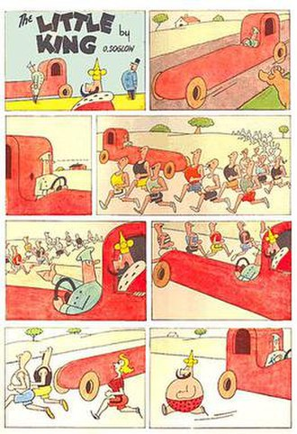 The Little King - An eight-panel installment of Otto Soglow's long-lived comic strip The Little King