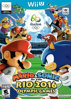 <i>Mario & Sonic at the Rio 2016 Olympic Games</i> 2016 sports party video game published by Nintendo