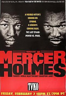 Ray Mercer vs. Larry Holmes Boxing competition