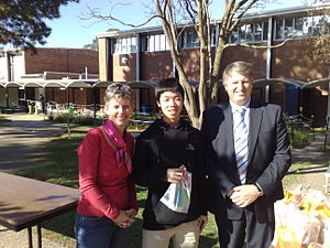 Narrabundah College - People at Narrabundah College. From left to right: staff, student, assistant principal.